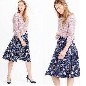 J. Crew Collection A-Line Skirt Nightfall Freesia